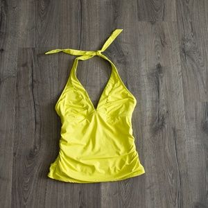 Athleta tankini top Medium yellow swim swimsuit M